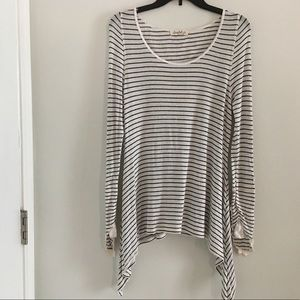 Scrapbook Striped Long Sleeve Thermal Size S